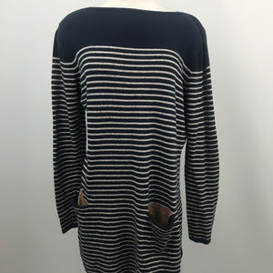 Boden Cashmere Blend Striped tunic  Front Pockets